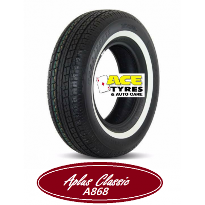Aplus 205/75R15C 109R A866 CLASSIC WHITE WALL 20mm