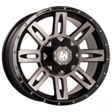 ALLIED STINGER Brushed Silver 17x9 6x114 +20 offset