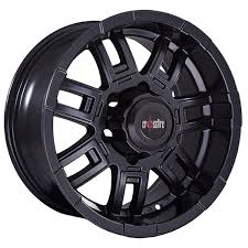 Crossfire Rambo Black 16x8 +20 offset 6x139