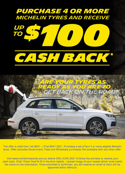 Michelin $50-100 Cashback