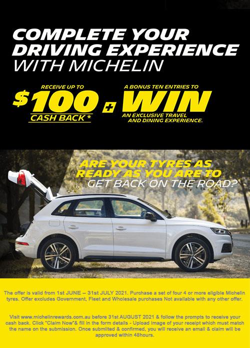 Michelin $50-100 Cashback
